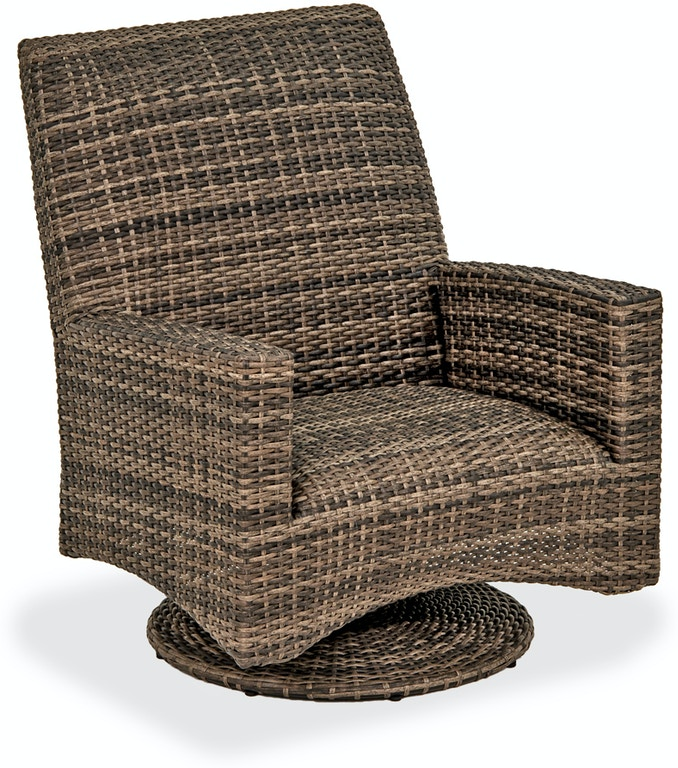 Outdoor Patio Sydney Husk Outdoor Wicker And Concealed Cushion Swivel Rocker Club Chair 3696637