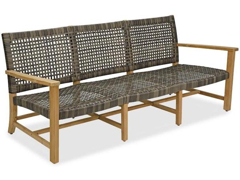 Outdoor/Patio Hampton Drfitwood Outdoor Wicker and Solid Teak Sofa ...