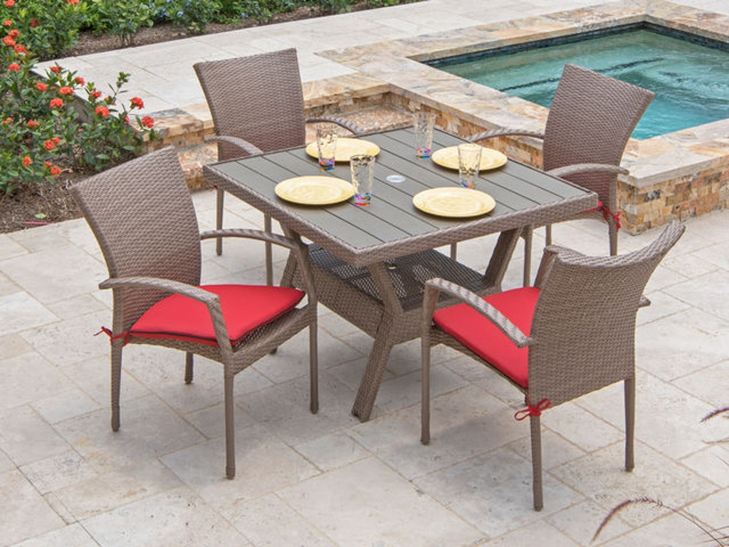 Amazing Sierra Driftwood Aluminum Outdoor Wicker 5 Pc Dining Set Download Free Architecture Designs Intelgarnamadebymaigaardcom