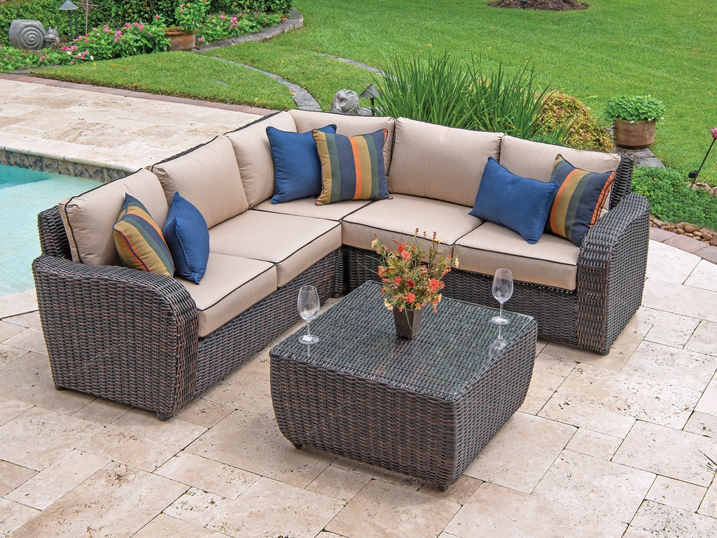 Outdoor Patio Biscayne 4 Pc Aluminum