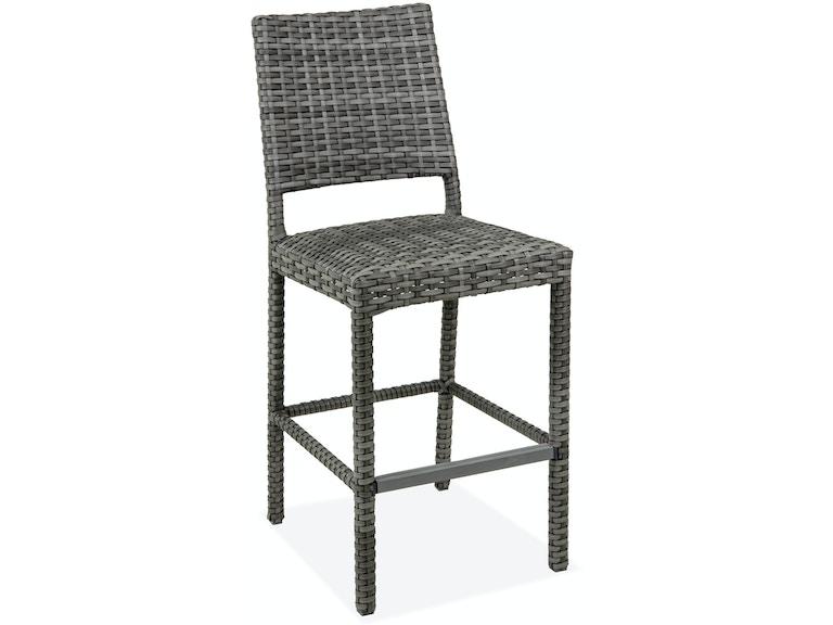 Marvelous Havana Saddle Grey Outdoor Padded Wicker 30 In Barstool Machost Co Dining Chair Design Ideas Machostcouk