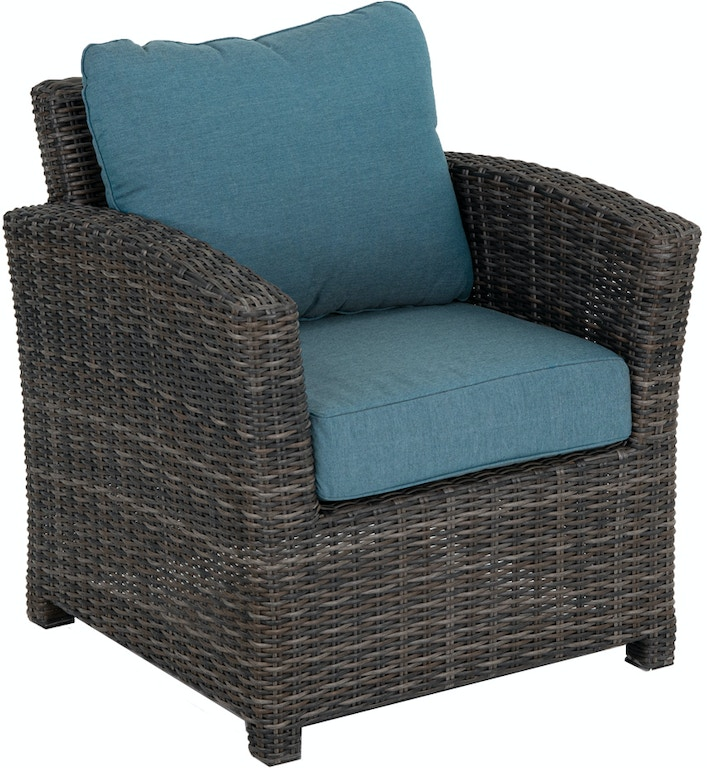 Venice Silver Oak Aluminum And Outdoor Wicker Cast Lagoon Cushion Club Chair