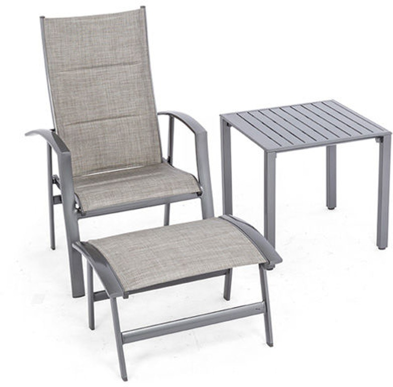 Outdoor Patio Ventura 3 Pc Sling Seating Setwith 24