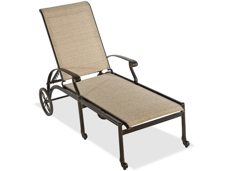 Surprising Florence Sling Midnight Gold Cast Aluminum Chaise Lounge Theyellowbook Wood Chair Design Ideas Theyellowbookinfo