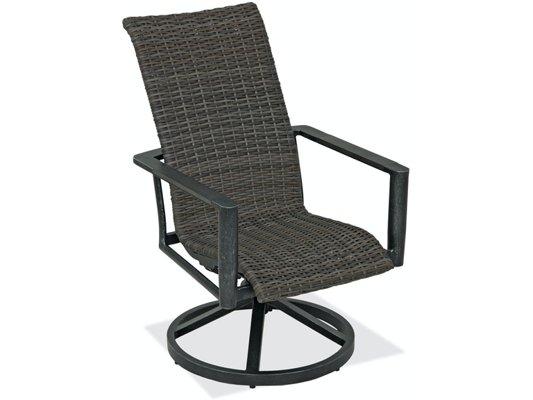 Marvelous Messina Brushed Silver Aluminum And Outdoor Wicker Swivel Rocker Cjindustries Chair Design For Home Cjindustriesco