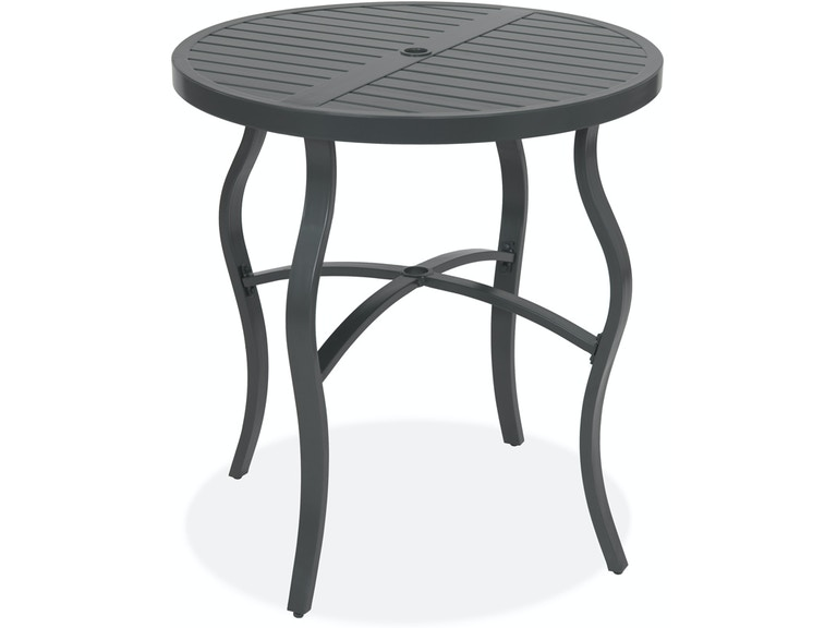 Peachy Ibiza Glimmer Grey Aluminum 36 In Round Slat Top Bar Table Camellatalisay Diy Chair Ideas Camellatalisaycom