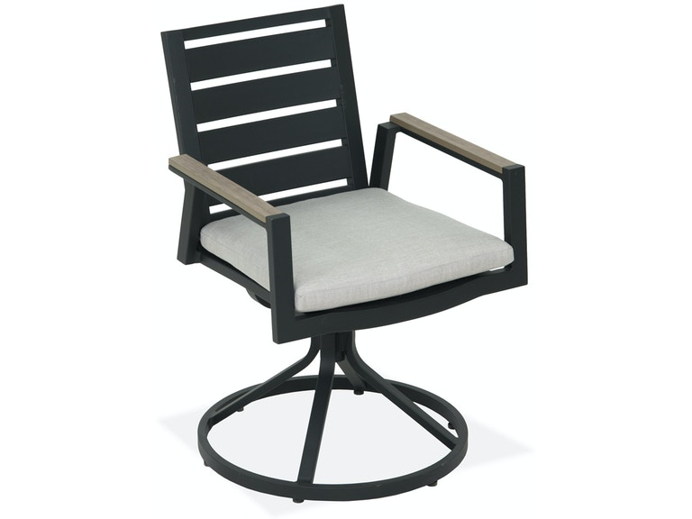 Fine Palma Glimmer Grey Aluminum Cushion Swivel Rocker Dining Chair Ncnpc Chair Design For Home Ncnpcorg