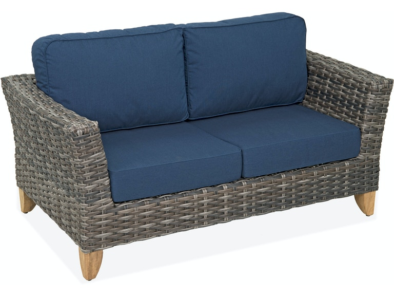 Surprising Mandalay Husk Aluminum And Resin Wicker Loveseat Cjindustries Chair Design For Home Cjindustriesco