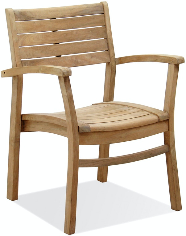 Warwick Natural Stain Solid Teak Stacking Dining Chair