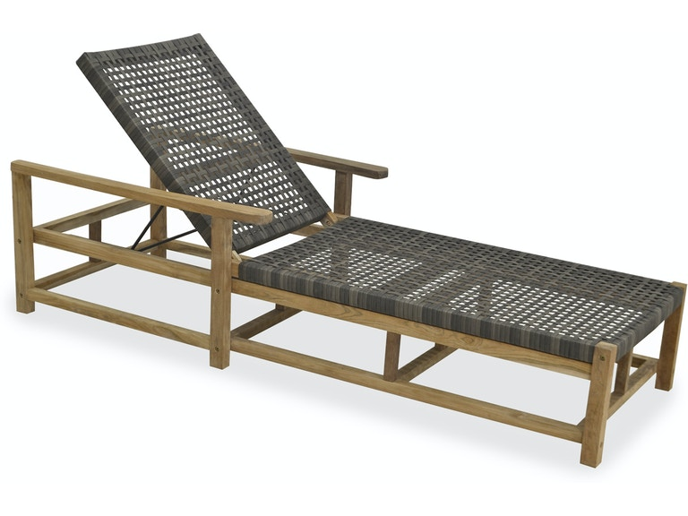 Pleasant Hampton Driftwood Outdoor Wicker And Solid Teak Chaise Lounge Gmtry Best Dining Table And Chair Ideas Images Gmtryco