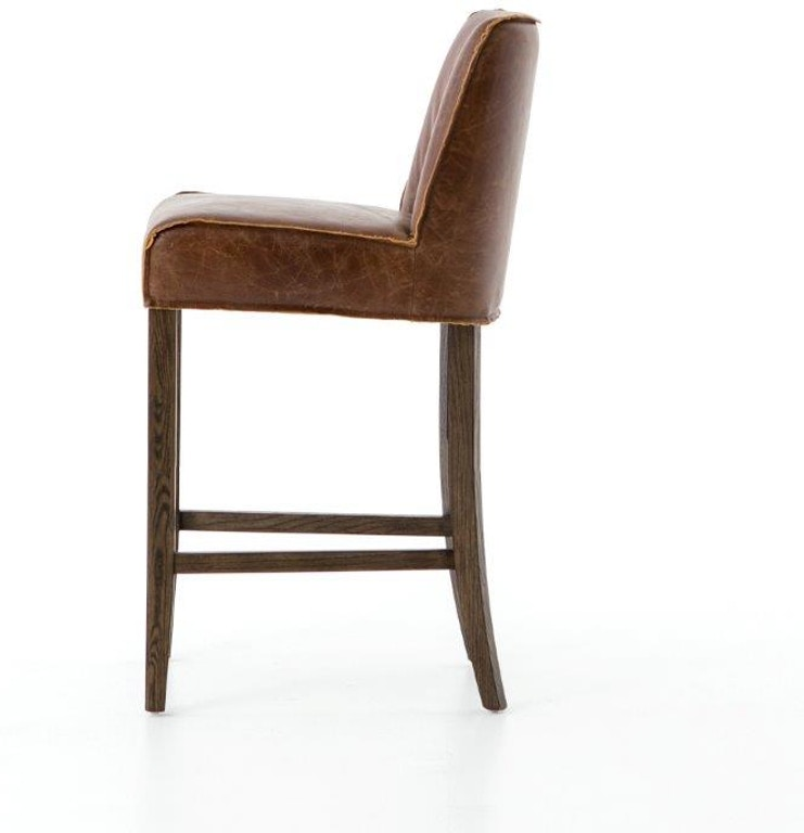 Surprising Aria Counter Stool Chestnut Leather Squirreltailoven Fun Painted Chair Ideas Images Squirreltailovenorg