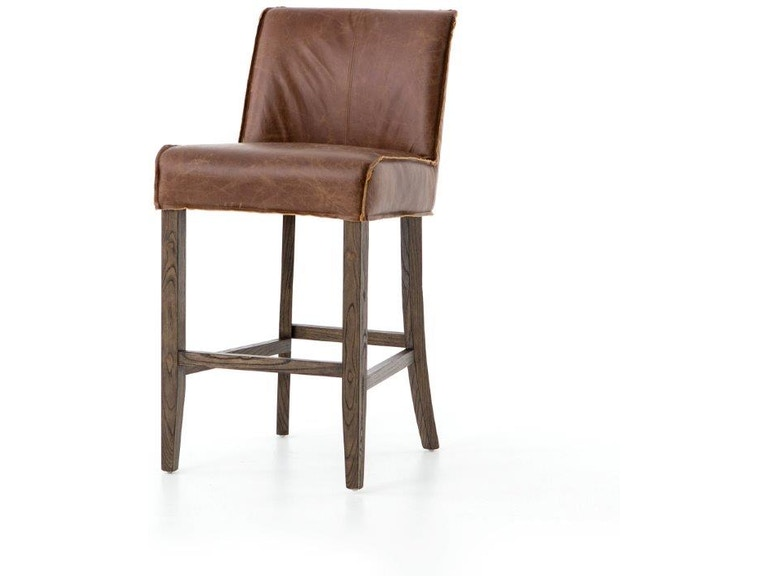 Sensational Aria Counter Stool Chestnut Leather Squirreltailoven Fun Painted Chair Ideas Images Squirreltailovenorg