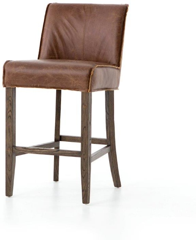 Amazing Aria Counter Stool Chestnut Leather Squirreltailoven Fun Painted Chair Ideas Images Squirreltailovenorg