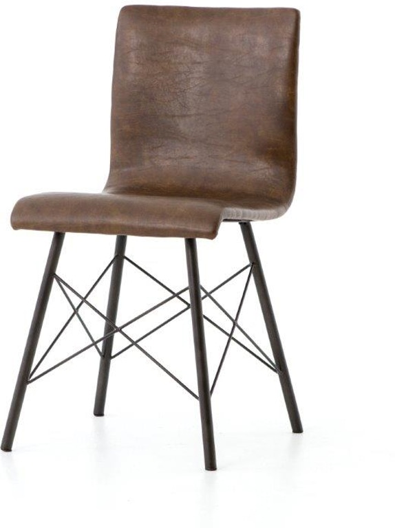 Sensational Diaw Dining Chair Distressed Brown Gmtry Best Dining Table And Chair Ideas Images Gmtryco