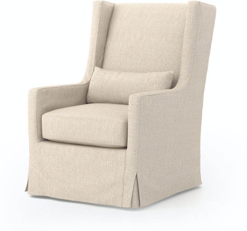 Tremendous Swivel Wing Chair Jette Linen Evergreenethics Interior Chair Design Evergreenethicsorg