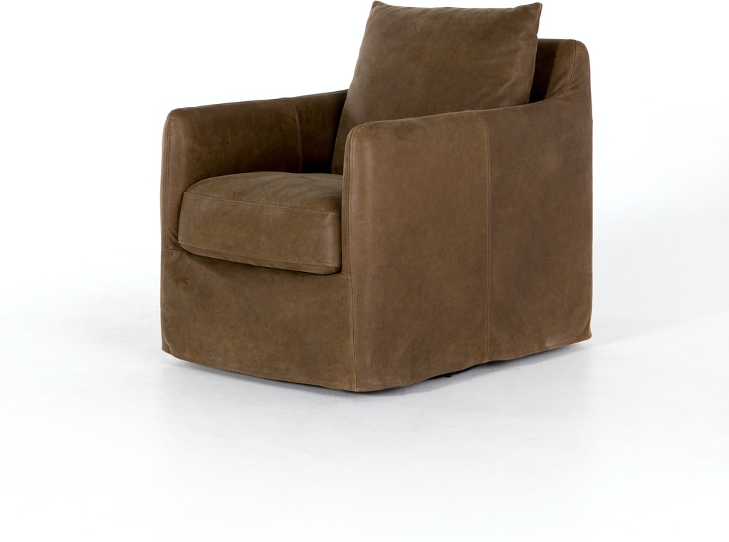 Astonishing Banks Swivel Chair Umber Leather Evergreenethics Interior Chair Design Evergreenethicsorg
