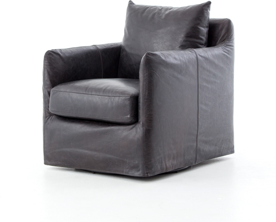 Peachy Banks Swivel Chair Black Leather Evergreenethics Interior Chair Design Evergreenethicsorg
