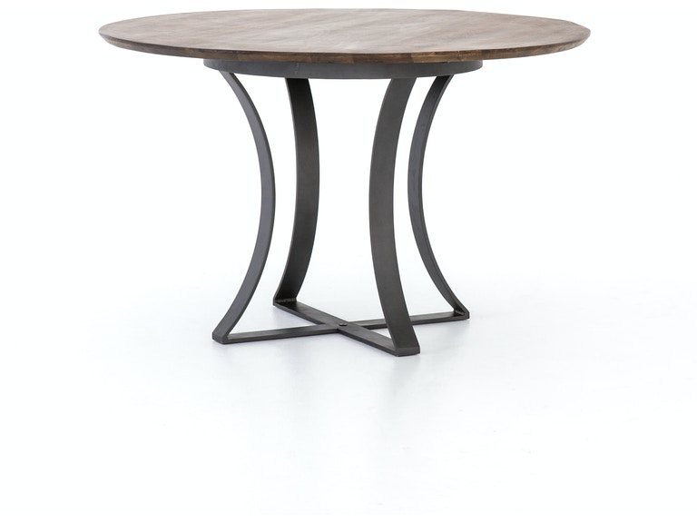 48 Inch Gage Dining Table Brown