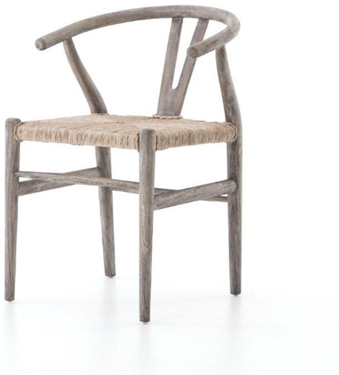 Four Hands Indoor Outdoor Muestra Dining Chair Weather Grey Teak Jlan 168a Seldens Designer Home
