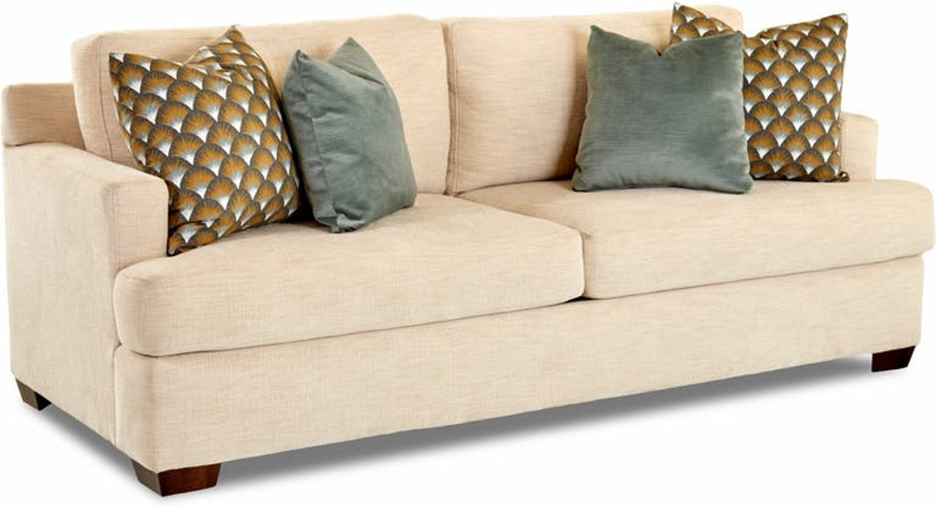 The Del Mar sofa is a contemporary style group with loose back cushions, a  three over three design, high arm rails, and a pair of accent pillows. this  ...