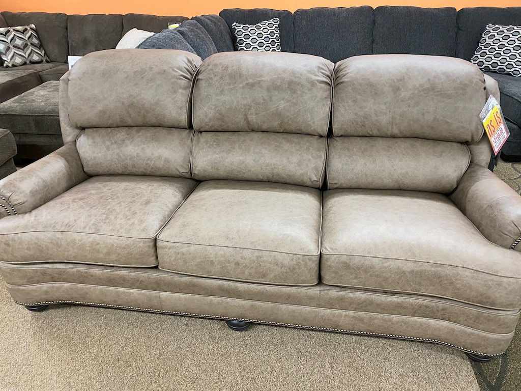 Smith Brothers Leather Sofa Skaff