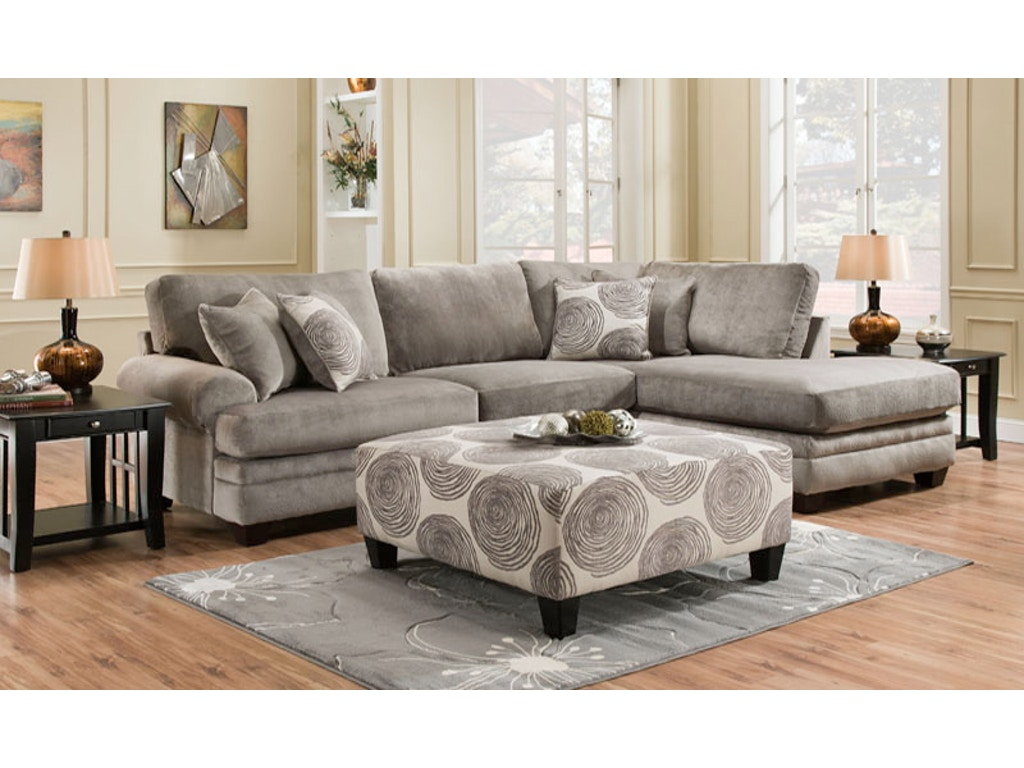 Groovy 2 Piece Stationary Sectional Farmers Home Furniture
