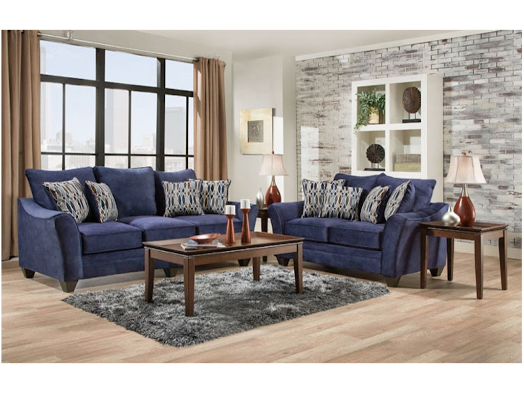Athena Navy 2 Piece Living Room Group Farmers Home Furniture