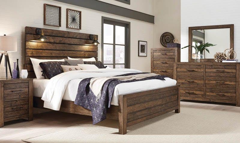 Dakota King Bed Dresser Mirror Farmers Home Furniture