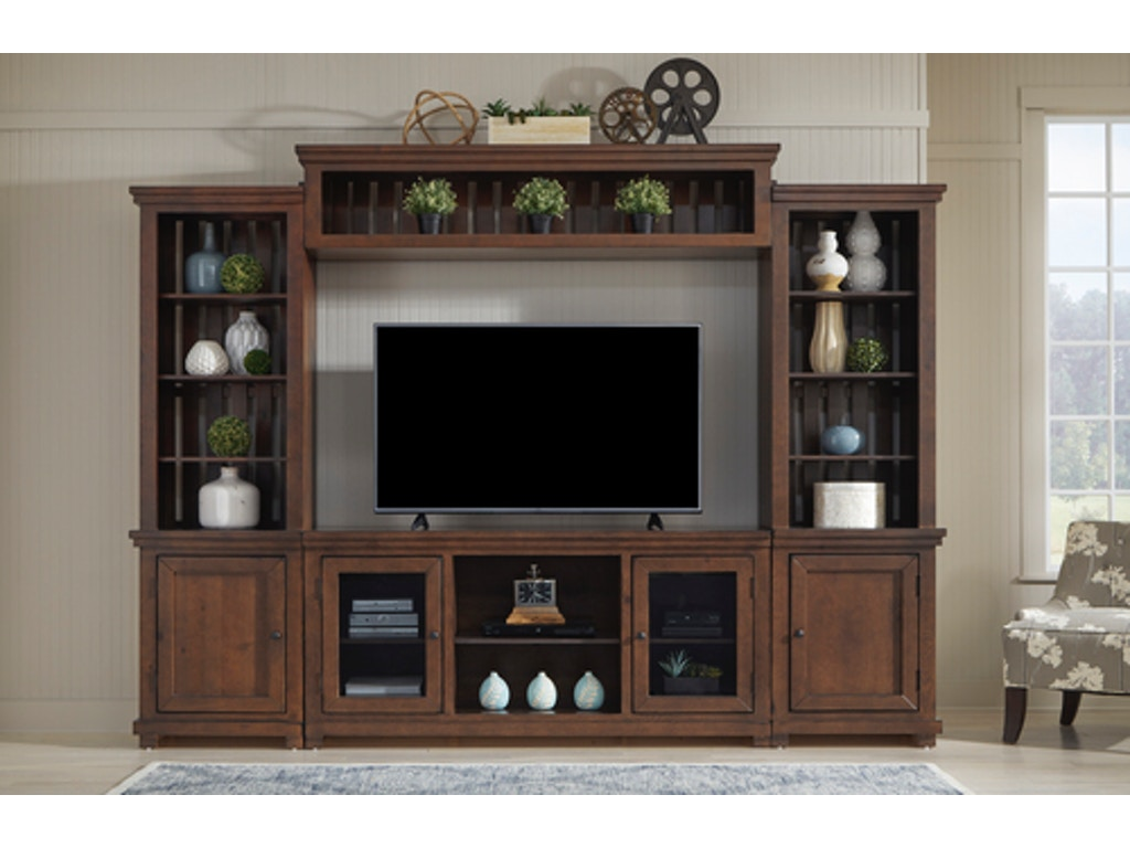 Willow 4 Pc Wall Unit Cherry Farmers Home Furniture