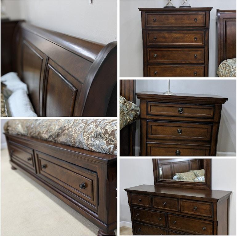Atlantic Bedding Furniture Chelsea King 7 Piece Bedroom