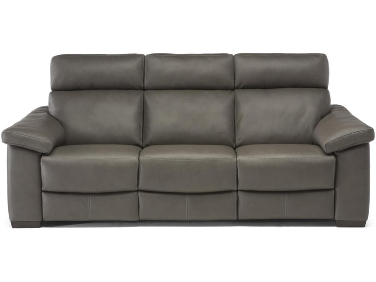 Pleasant Estremo Grey Top Grain Leather Reclining Sofa Pdpeps Interior Chair Design Pdpepsorg