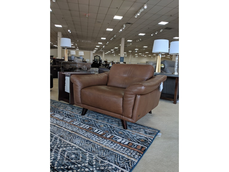 Contento Top-Grain Leather Chair & 1/2