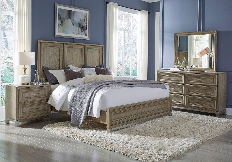 Image of: Pulaski Furniture Park Place 6 Pc Set Queen Bed Dresser Mirror Nightstand Chest Pl P061170 71
