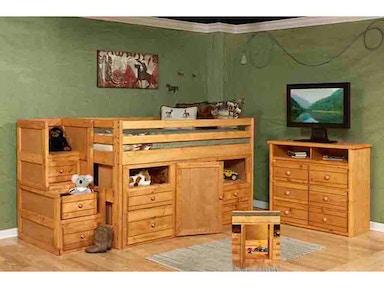 Trendwood Bedroom Bronco Twin Loft Bed In Cinnamon Finish