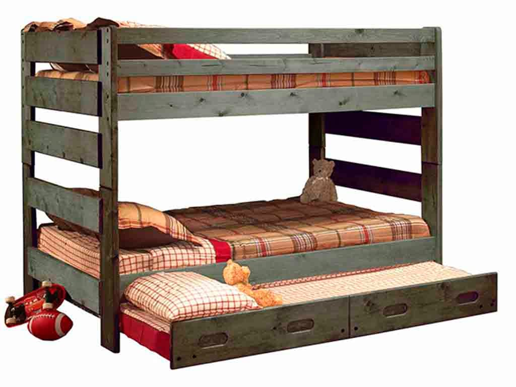 Picture of: Trendwood Bedroom Big Sky Full Full Bunk Bed In Driftwood Finish Big Sky Dw Furniture Market