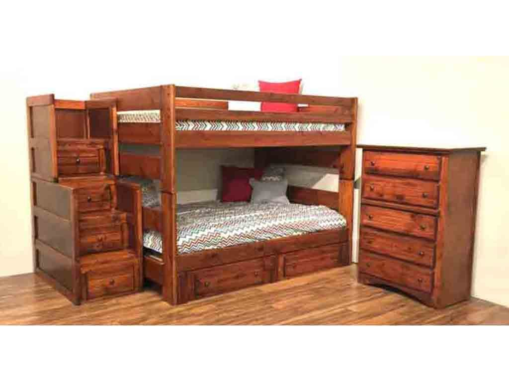 Picture of: Trendwood Bedroom Big Sky Full Full Bunk Bed In Cocoa Finish Big Sky Co Furniture Market