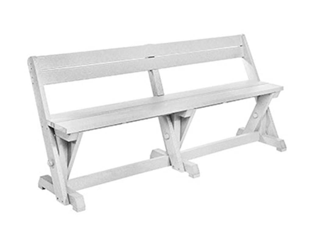 Picture of: Outdoor Patio Cr Plastic Products Dining Table Bench With Back B202 Furniture Market Austin