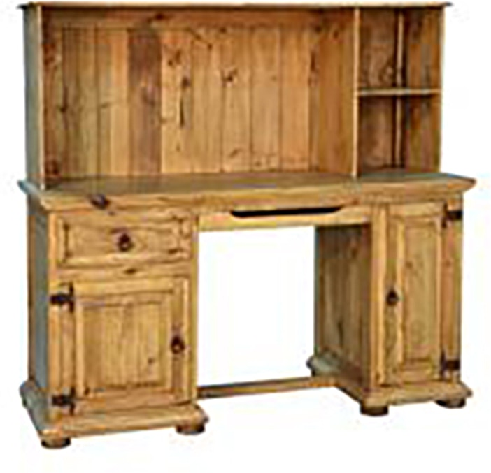 Rusticos Sierra Home Office COMPUTER DESK WITH HUTCH LT