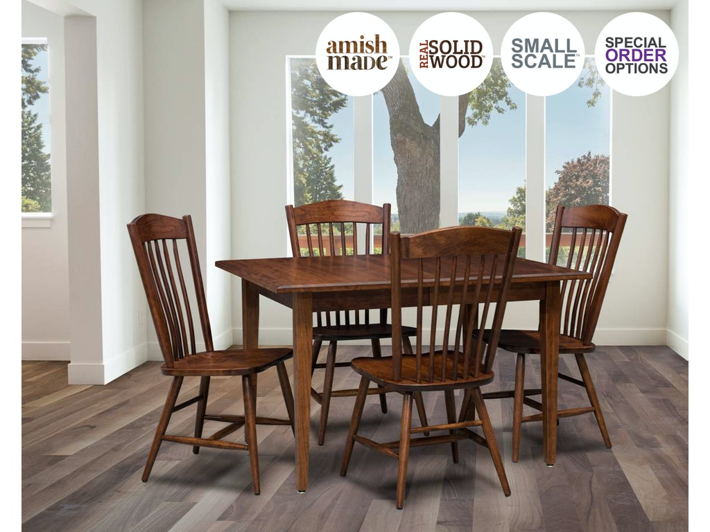 Amish Tw Dining Room 5 Piece Ohio Amish Made Real Solid Wood Dining Set Freeport 8004 Biltrite