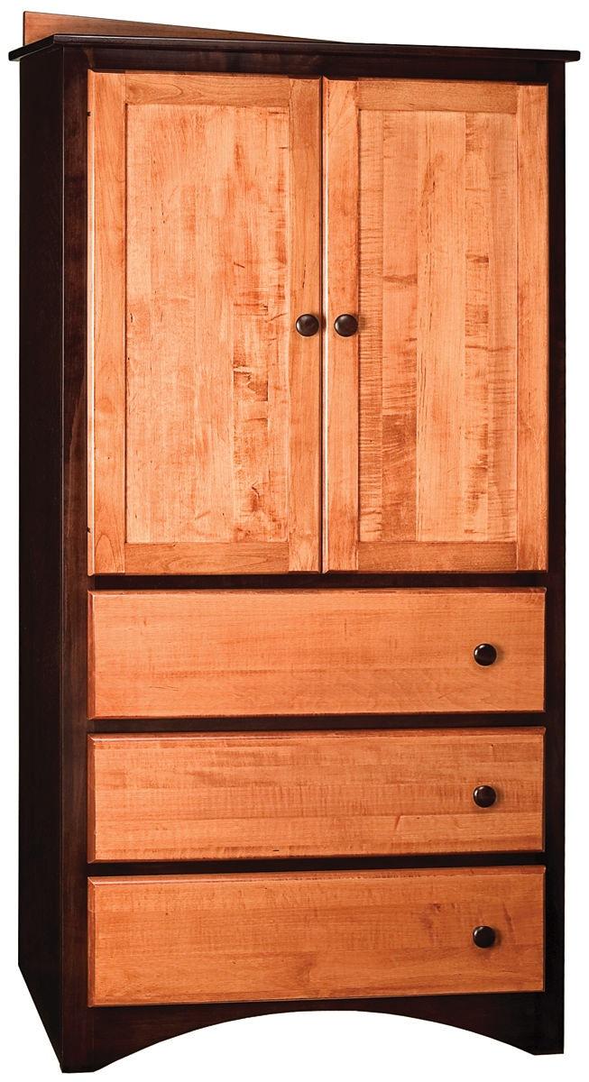 Delicieux Bridgeport 3 Drawer 2 Door Armoire IN2600