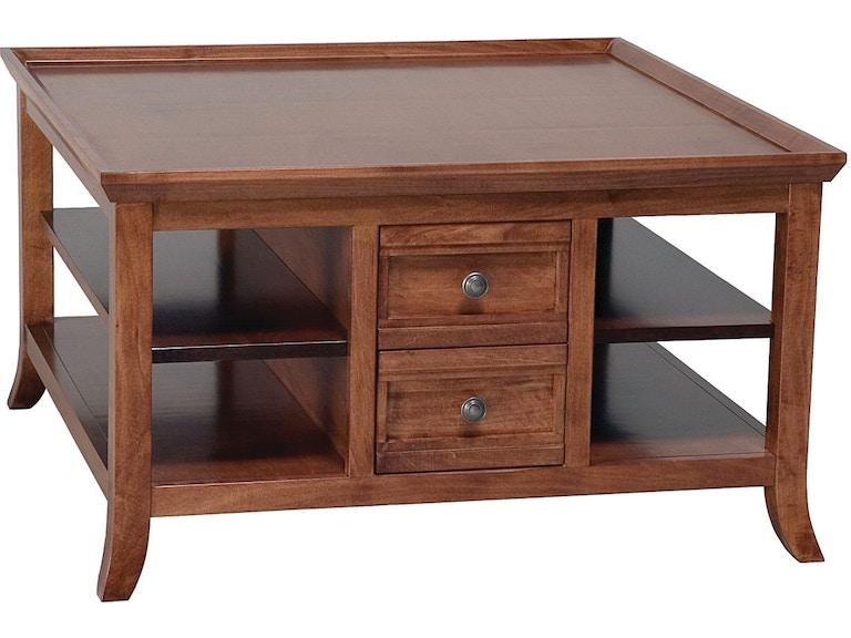 Mystic Creek 4 Drawer Square Coffee Table Mc3105