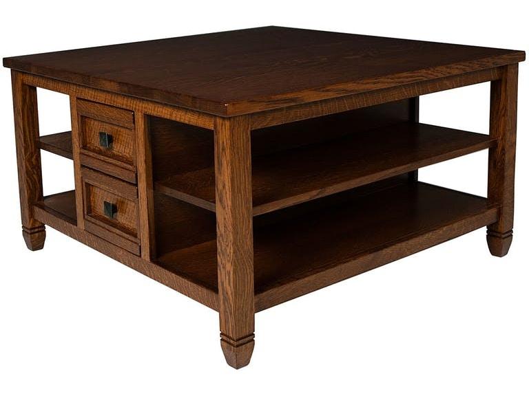 Mystic Creek Living Room Rima 4 Drawer Square Coffee Table Mc3605