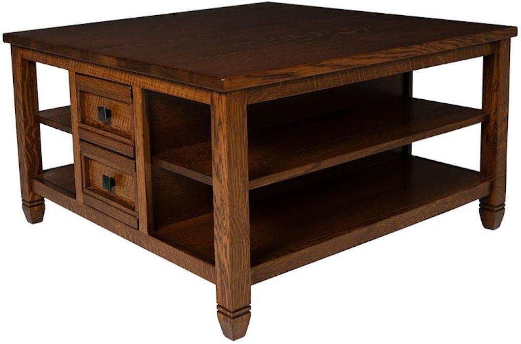 Mystic Creek Rima 4 Drawer Square Coffee Table Mc3605