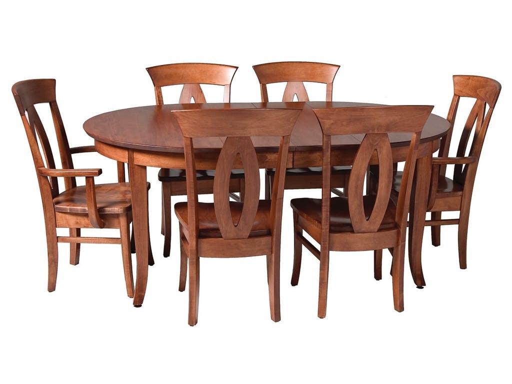 Mystic Creek Benoit 48 Round Extension Table MC8121 48
