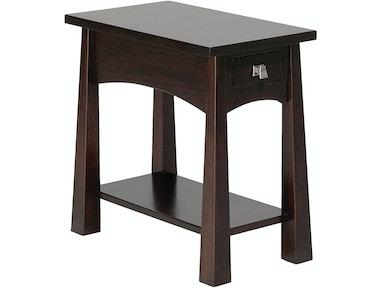 precision crafted living room flush narrow 1 drawer end table pc4122 borofka s furniture. Black Bedroom Furniture Sets. Home Design Ideas