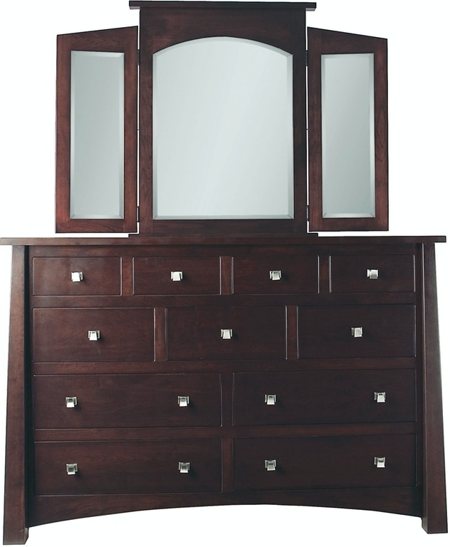 Precision Crafted Bedroom Kings 11 Drawer Long Dresser ...