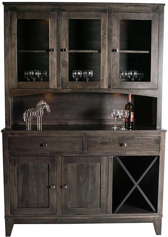 Mystic Creek Living Room Square 3do Hutch Buffet Wine Mc8002 2w