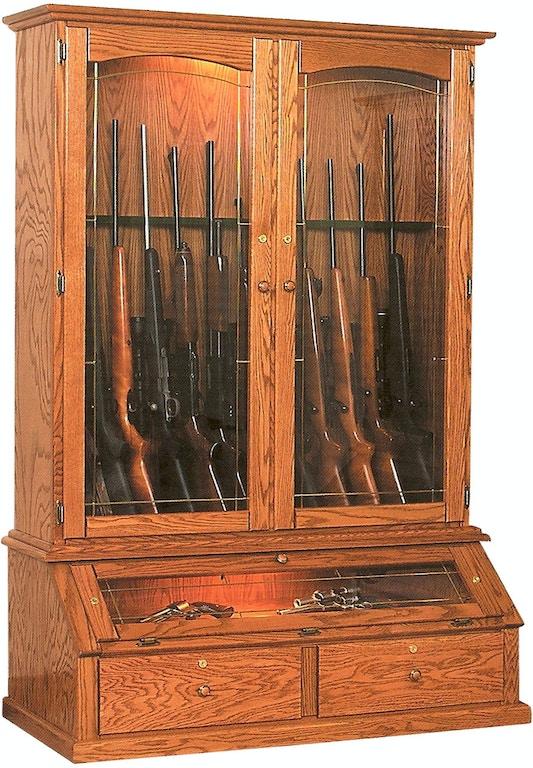 Willow Valley Living Room 12 Gun Vertical Gun Cabinet ...