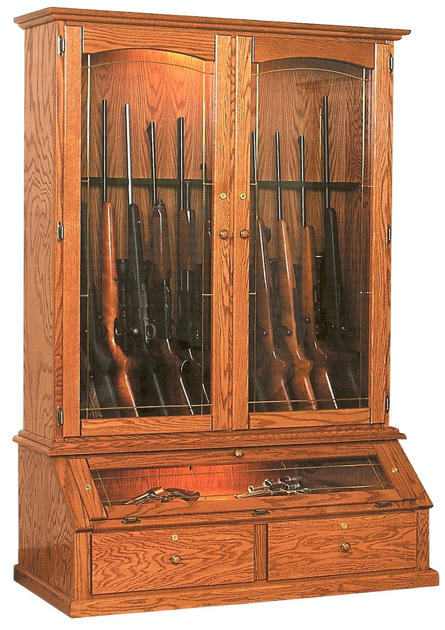 Full extension ball bearing drawer glides. English dovetailed solid Pine five-board drawers. 12 Gun Vertical Gun Cabinet WV2119 Willow Valley & Willow Valley Living Room 12 Gun Vertical Gun Cabinet WV2119 ...