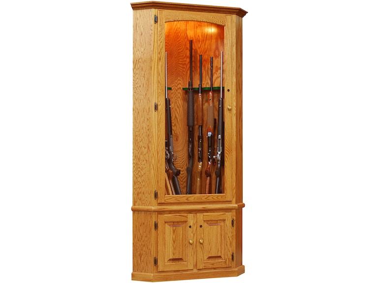 8 Gun Corner Cabinet